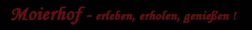 Urlaub Moierhof Logo